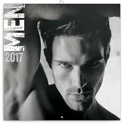 Men In Black & White Guys Uk Square 2017 Wall Calendar With Free Uk Postage