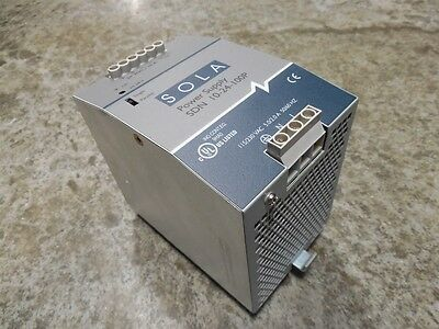 USED SOLA SDN 10-24-100P Power Supply Module 24VDC 10A