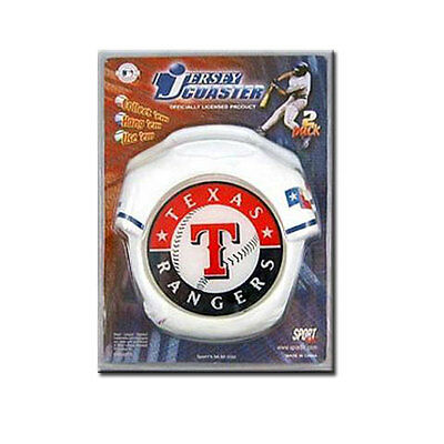 Texas Rangers MLB Jersey Twin Coaster Set - Stock Clearance Sale!