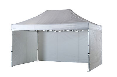 3m x 4.5m White Poptents Heavy Duty Pop up Marquee Market Tent / Stall / Gazebo