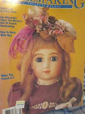 Dollmaking Spring 1990 Magazine-Valerie Paper Doll/Eyes/Toothless Fairy/French S
