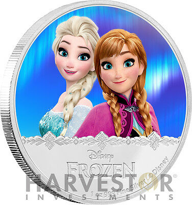 Disney Frozen - Elsa & Anna - Magic Of The Northern Lights - 1 Oz. Silver Series