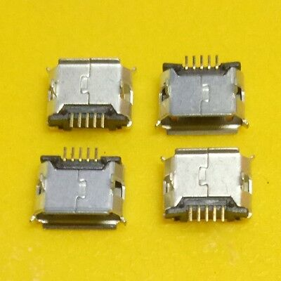 10Pcs Micro USB Type B Female 5Pin Socket 4Legs SMT SMD Soldering Connector