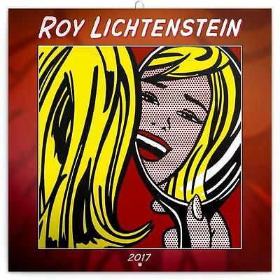 Roy Lichtenstein 2017 Uk Square Wall Calendar New And Sealed