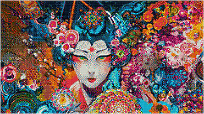 Oriental Abstract 14 Count Cross Stitch Kit