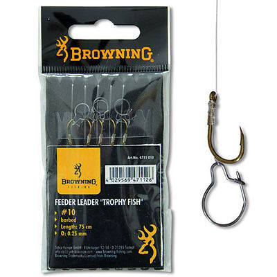 Browning Feeder Leader Hooks to Nylon with Maggot Clip - Match Coarse Fishing