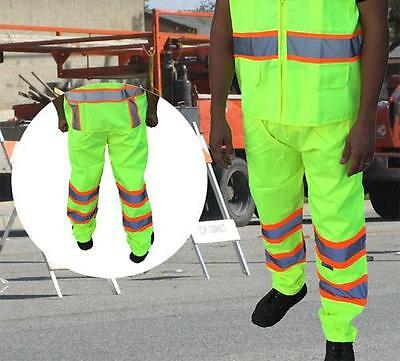 3C Products ANSI Class E Waterproof Safety Rain Pants Neon Green - SAP5000