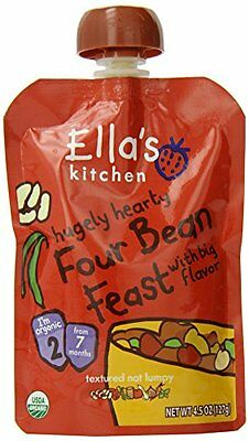 Ellas Kitchen Organic Stage 2, Four Bean Feast, 4.5 Ounce Pack of 6