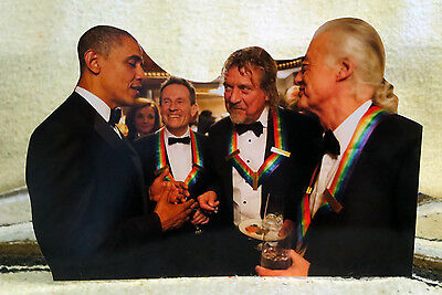 Led Zeppelin & President Obama at Kennedy Center Honors 12/2012 Tabletop Standee