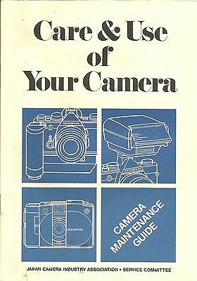 Care & Use of Your Camera, 1981 by Olympus / Japan Camera Industry Association