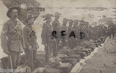 Soldier group A V Darwent 6th Battalion Manchester Regiment at territorial camp