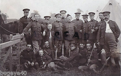Soldier group Essex Imperial Yeomanry in tented camp Colchester area ?