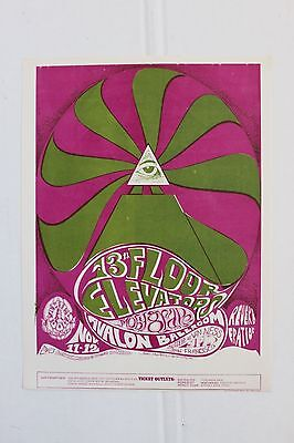 13th Floor Elevators FD 34 Handbill Flyer 1966 Avalon San Francisco Fillmore Era