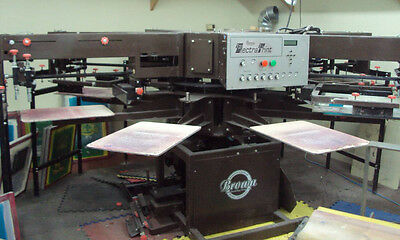 Browm Manufacturing - 8 Station 6 Color Semi Automatic Screen Printing Press