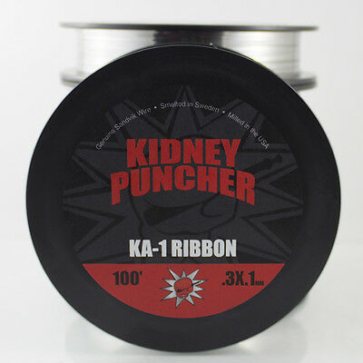 KP Wire Kanthal A-1 Ribbon Wire 100ft Spool (.3mm x .1mm)