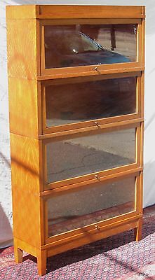 Arts & Crafts Globe Wernicke Tiger Oak Mission Barrister Bookcase-Extra Choice