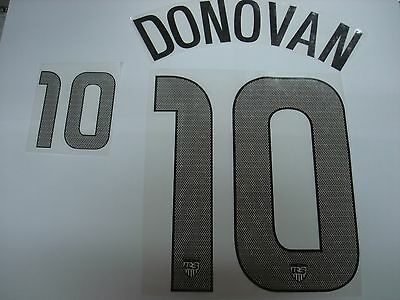 DONOVAN #10 USA Home 2012-14 PU PRINT NAME NUMBERING
