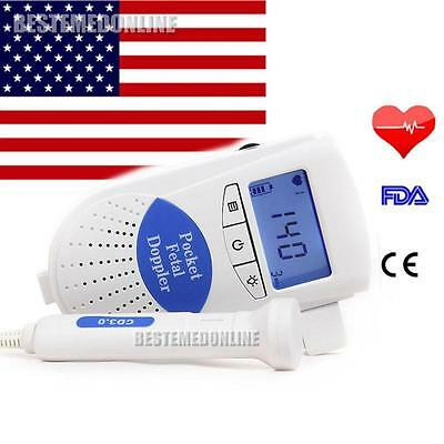UPS Sonoline B LCD Fetal doppler  with 3mhz Probe + gel + FDA  heart Monitor