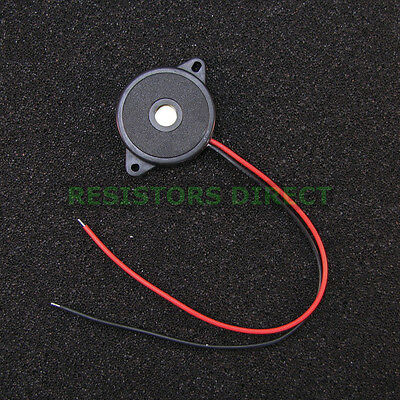 2x Adafruit Large Thin Enclosed Piezo Element Buzzer Knock Sensor Tone Alarm G12