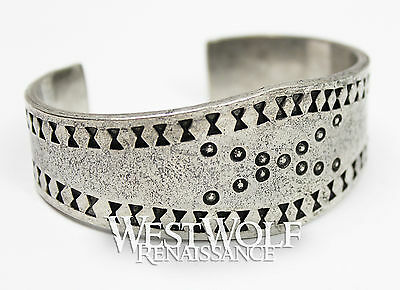 Large Viking Cuff Bracelet - Norse/Medieval/Norway/Celtic/Silver/Handmade/Bangle