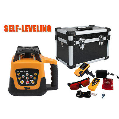 Fully Automatic Self-Leveling 500m Red Beam Rotary Laser Level Kit With Goggles