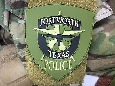 Subdued Fort Worth Police Department Pvc Patch