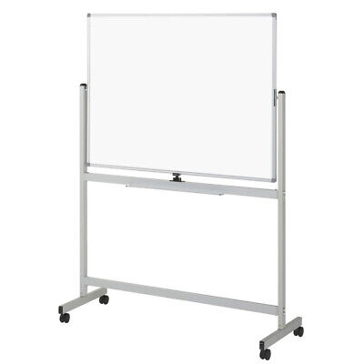 Mobile Whiteboard 120 x 90 cm With Stand Office Magnetic Marker White Board