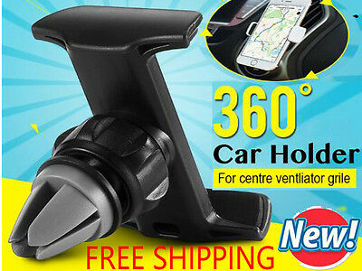 Universal Adjustable 360° Car Air Vent Holder Stand Mount For Mobile Cell Phone