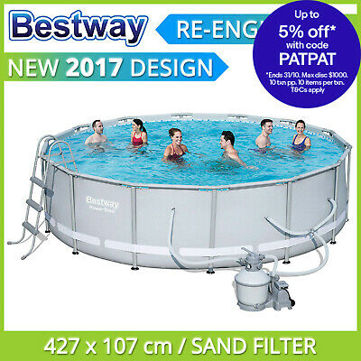 Bestway Above Ground Swimming Pool 427 x 107 cm with 1000gph Sand Filter