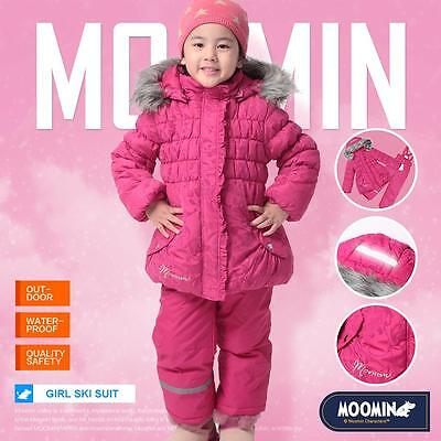 Girls snowsuit snow suit Kids winter coats Tops trousers waterproof The Moomins