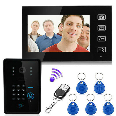 "7"" TFT 2.4G Wireless Video Door Phone Intercom Doorbell Monitor Access Control"