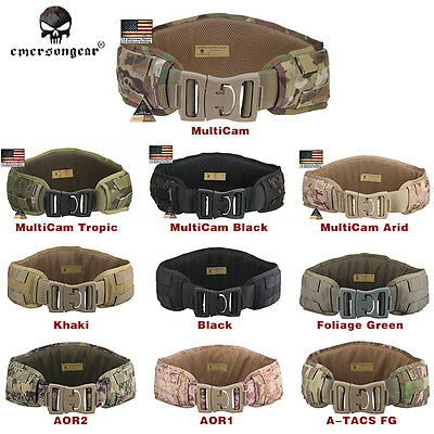 EMERSON Tactical Molle Waist Belt Combat Padded Military Hunting Duty Belts 9086