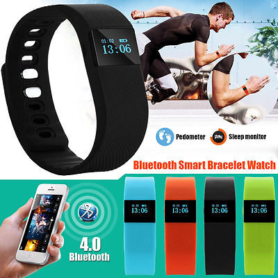 Sports Fitness Tracker Fitbit Style Smart Watch Wristband Bluetooth Android IOS