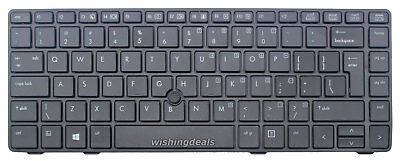 Original New For HP EliteBook 8460p 8460w 8470p 8470w US keyboard With Frame