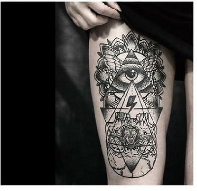 Creative Large Removable Temporary Tattoo Waterproof Body Arm Art Sticker