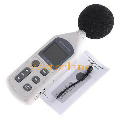 LCD Digital Sound Noise Level Meter Decibel Pressure Tester Monitor 30~130dBA