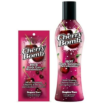 Supre Cherry Bomb hot tingle dark tanning accelerator sunbed tan lotion cream