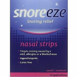 Snoreeze Small/Medium Snoring Relief Nasal Strips - Pack of 10