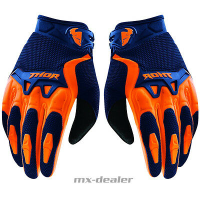 Thor Spectrum Handschuhe orange blau Glove MX Motocross Enduro MTB S M L XL XXL