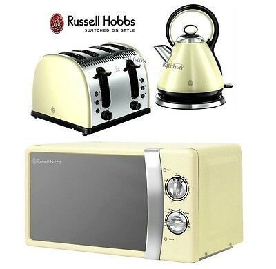 Russell Hobbs Microwave Kettle and Toaster Set Legacy Kettle & 4 Slice Toaster