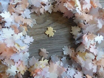 1/2 Pint Woodland Realm Maple Leaves Wedding Party  Tissue Confetti Decoration