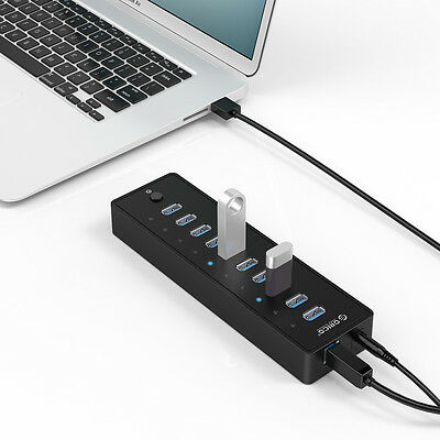 ORICO 10 Ports USB 3.0 Multi Port HUB With Cable & Power Adapter For Windows Mac