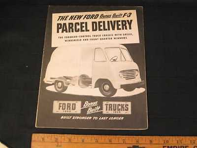 1949 Ford F-3 Parcel Delivery Truck Folder Sales Brochure