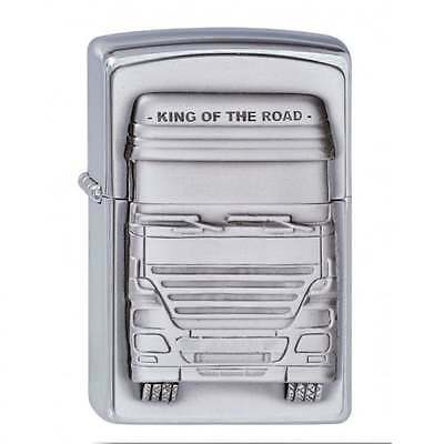 Zippo Lighter King of the Road Brushed Chrome