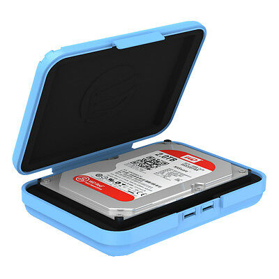 "ORICO PHX-35 3.5"" HDD Hard Disk Drive Protection Enclosure Case Storage Box Blue"