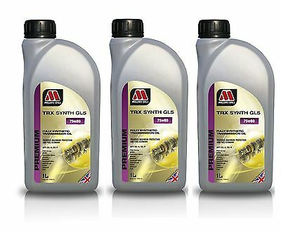 3L Millers Oils TRX Synth 75w80 GL5 Fully Synthetic Transmission Oil 3 Litre