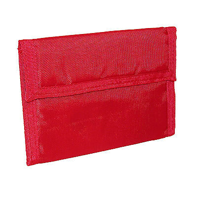 New CTM Kids' Solid Color Nylon Trifold Wallet with Fabric Hook and Loop Closure