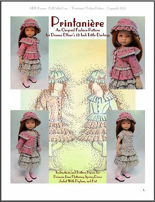 """""""Printanière"""" Fashion Pattern for Dianna Effner's 13 Inch Little Darlings"""