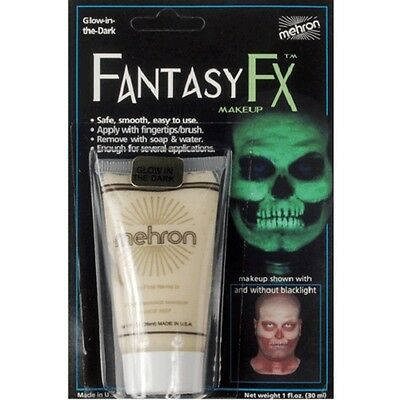 Glow in the Dark Black Light Mehron Fantasy FX Face Paint Body Blacklight Makeup