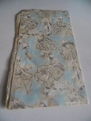 Vintage Wedding Gift Wrap Wrapping Paper Mid Century One Sheet